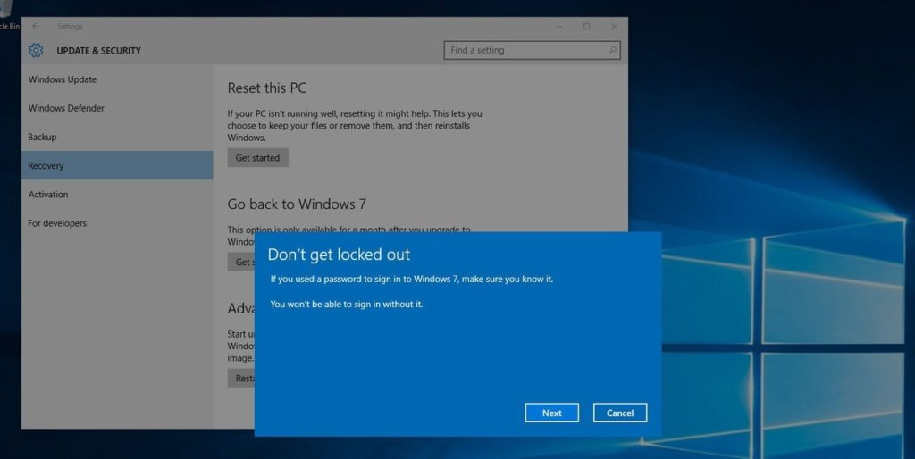 locked out of windows 10 pro
