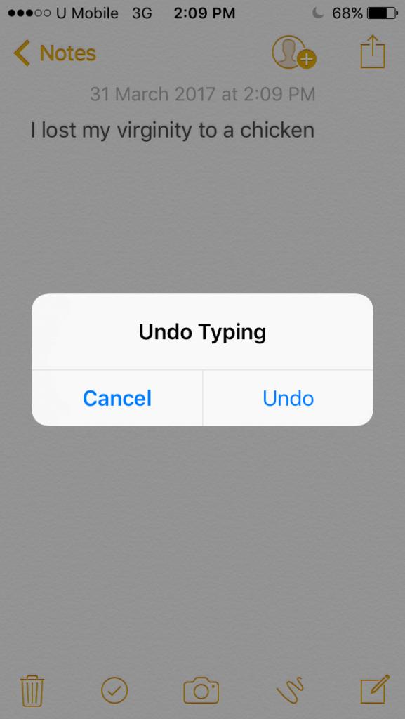 Undo Typing on iPhone or iPad