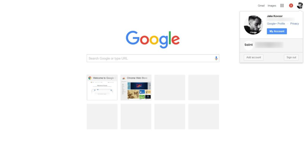 open two google accounts at the same time