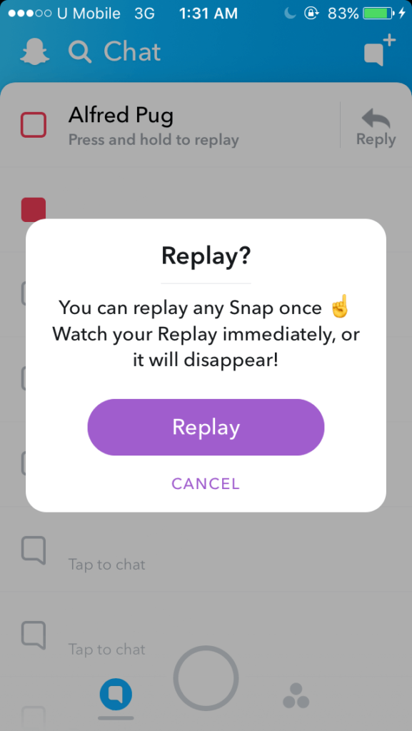 how to replay snap on snapchat