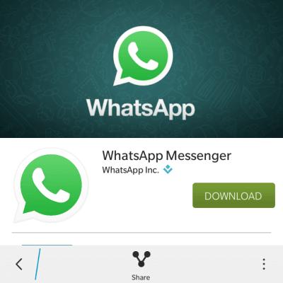 download whatsapp on blackberry 10