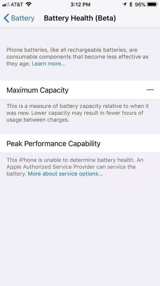 disable performance throttling on iPhone