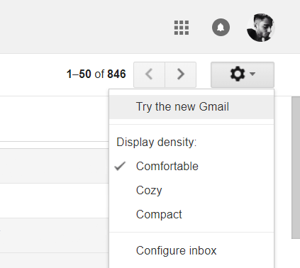How to switch to the new Gmail Design