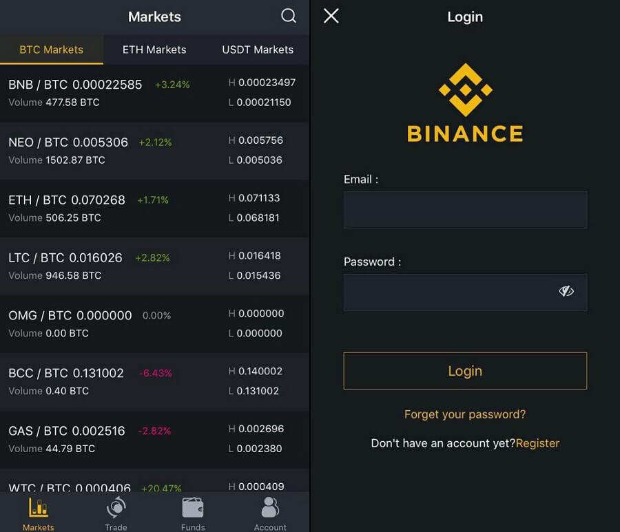 install Binance app on iPhone