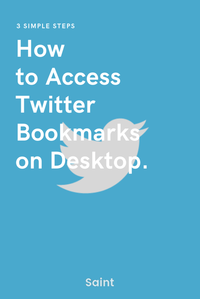 access twitter bookmarks on desktop