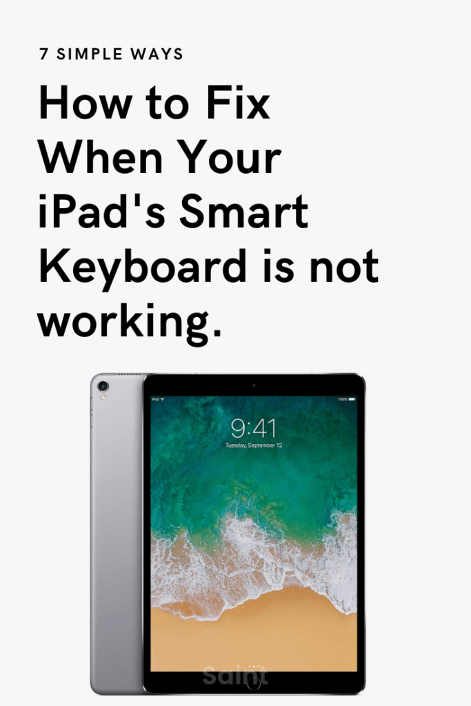 "iPad Pro Smart Keyboard Says ""This Accessory Is Not Supported By This Device"""