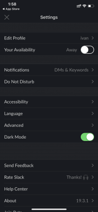 How to Turn On Dark Mode on Slack for iOS and Android