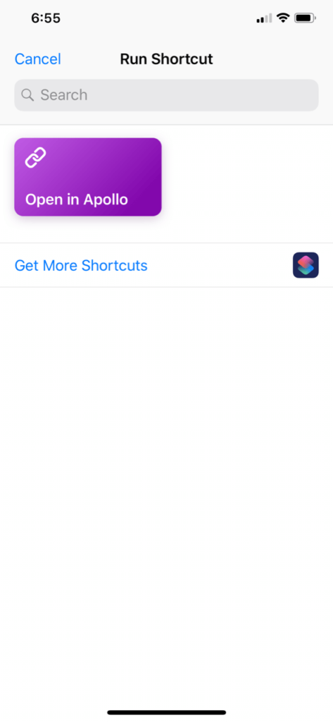open reddit links in apollo