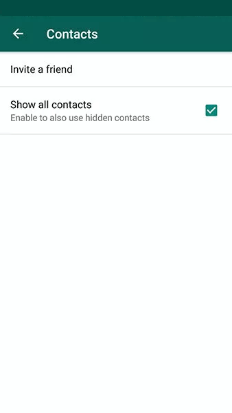 Fix WhatsApp Contacts Not Showing