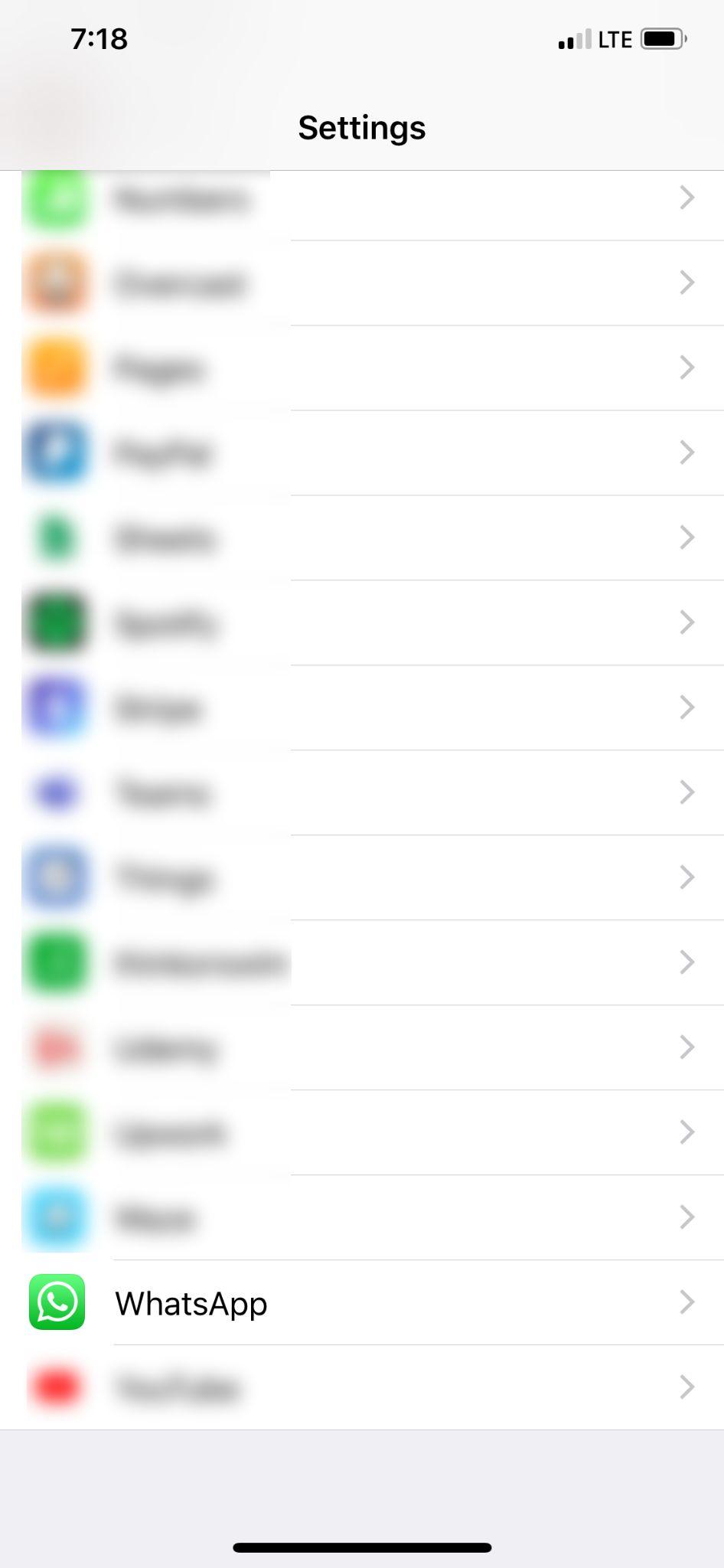 iPhone WhatsApp Not Working