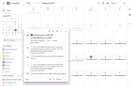 Spam Events Showing Up in Google Calendar