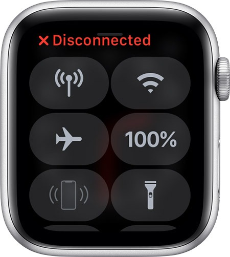 Airplane Mode on Apple Watch