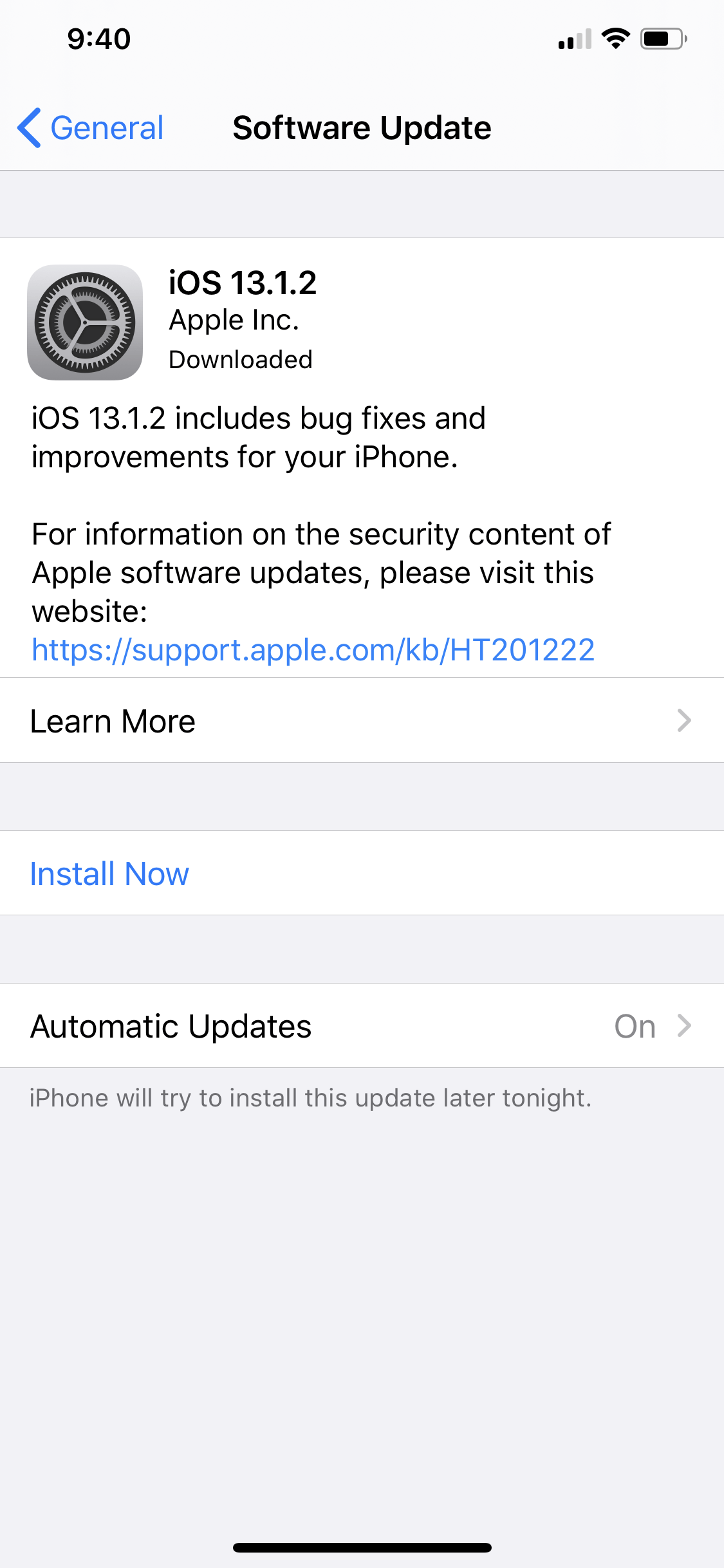 Download iOS 13.1.2 Update