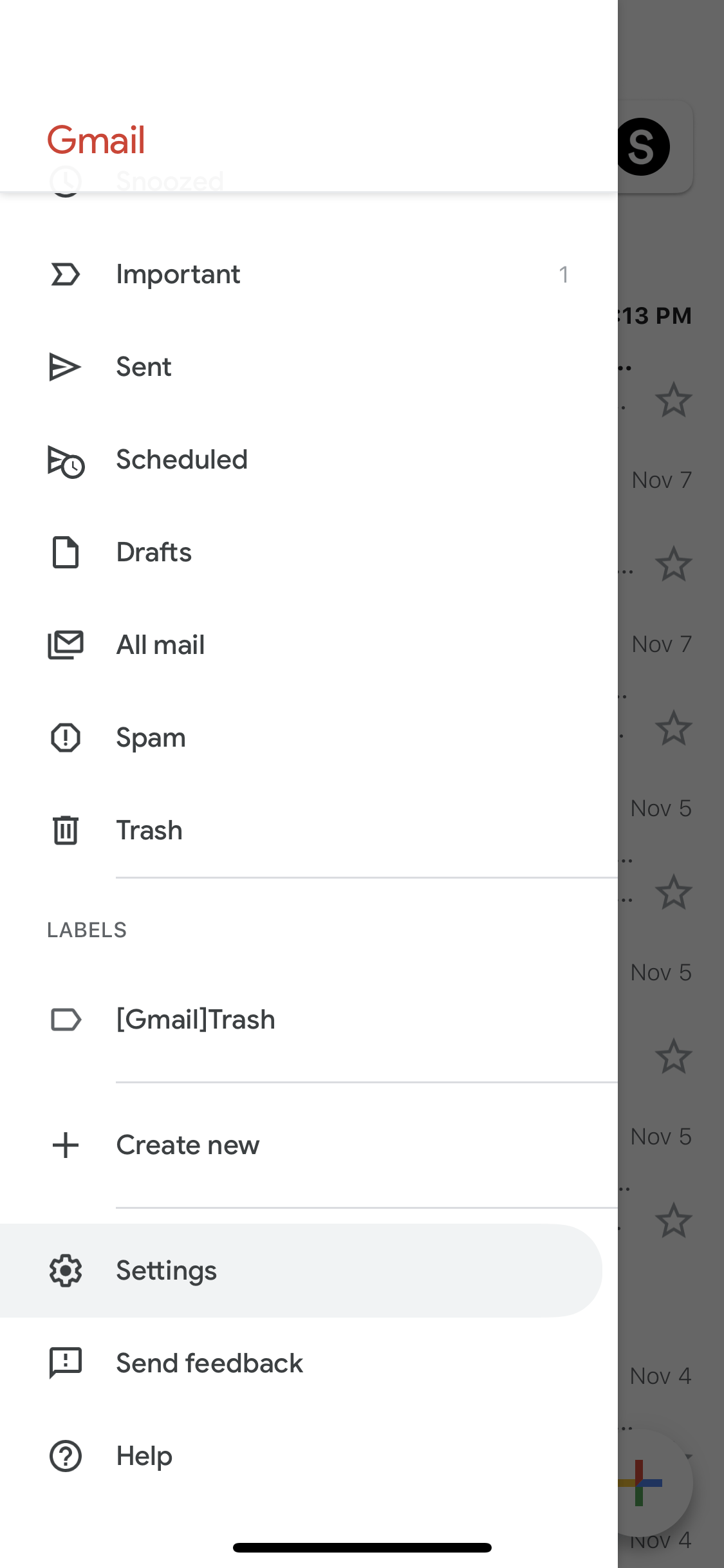 enable dark mode on Gmail on iPhone