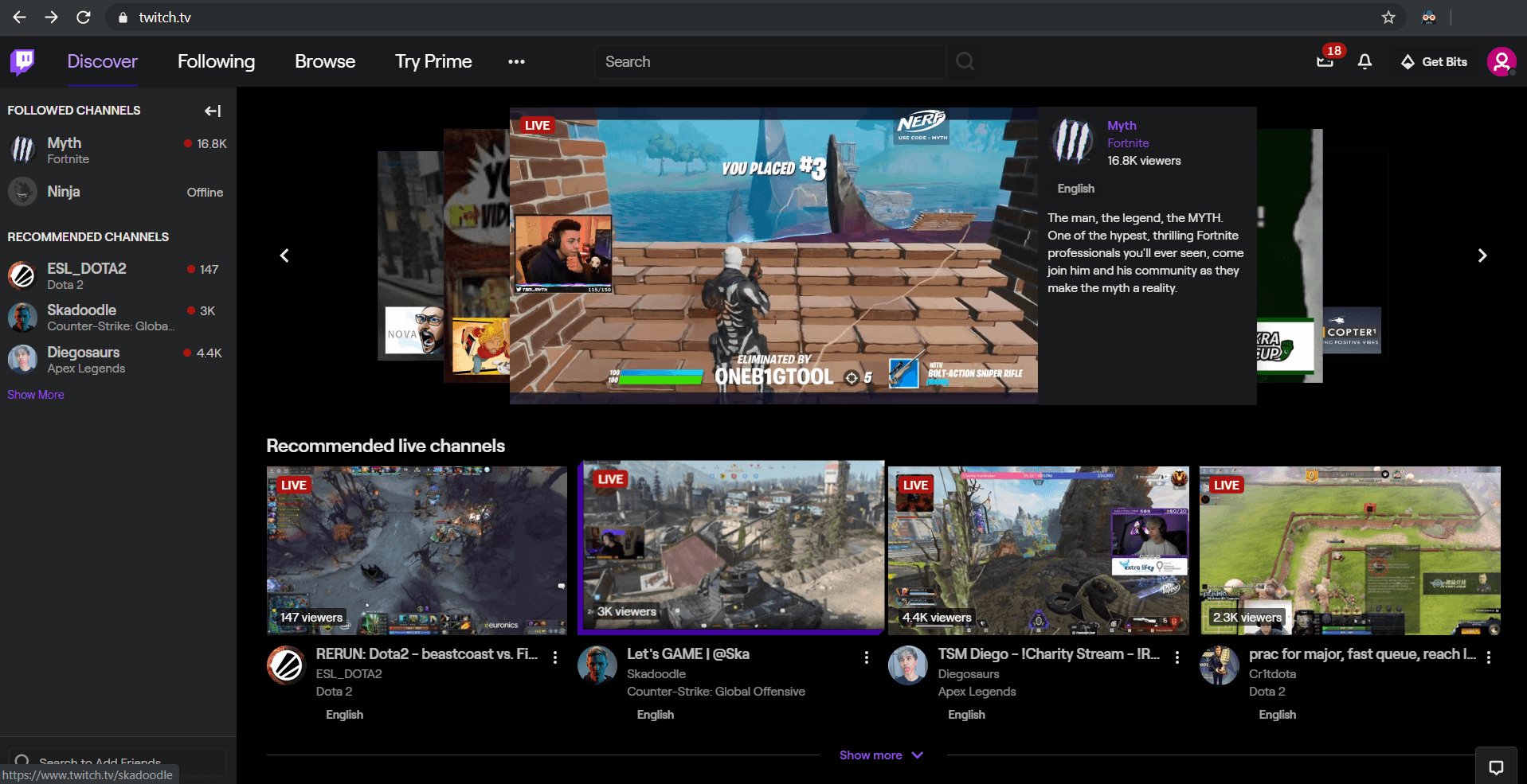 Enable Dark Mode on Twitch