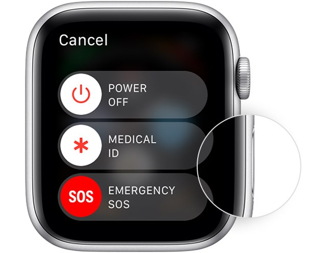 power off apple watch