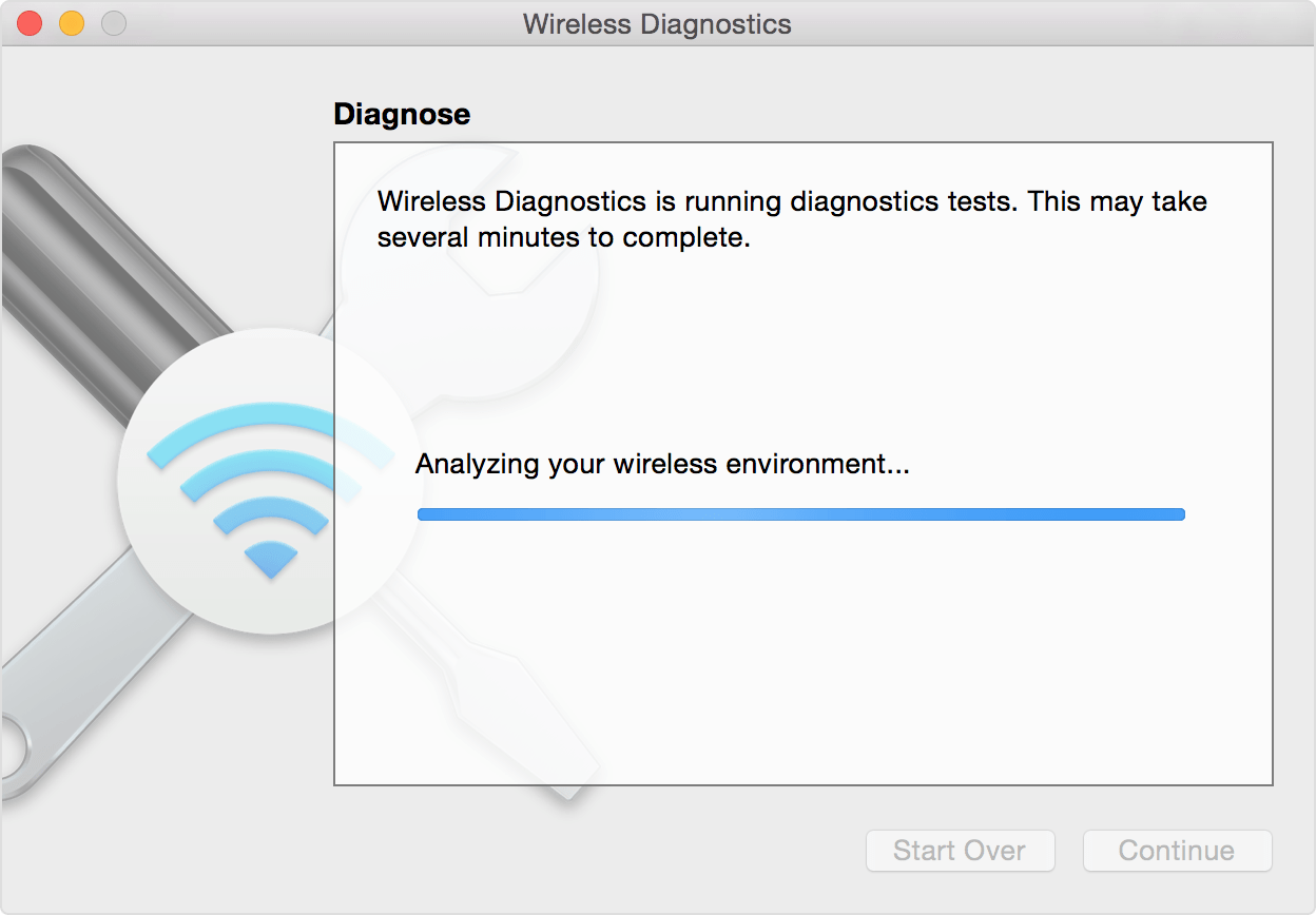 Wireless Diagnostics Wi-Fi macOS