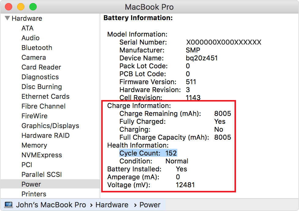 How to Check Battery Health in macOS