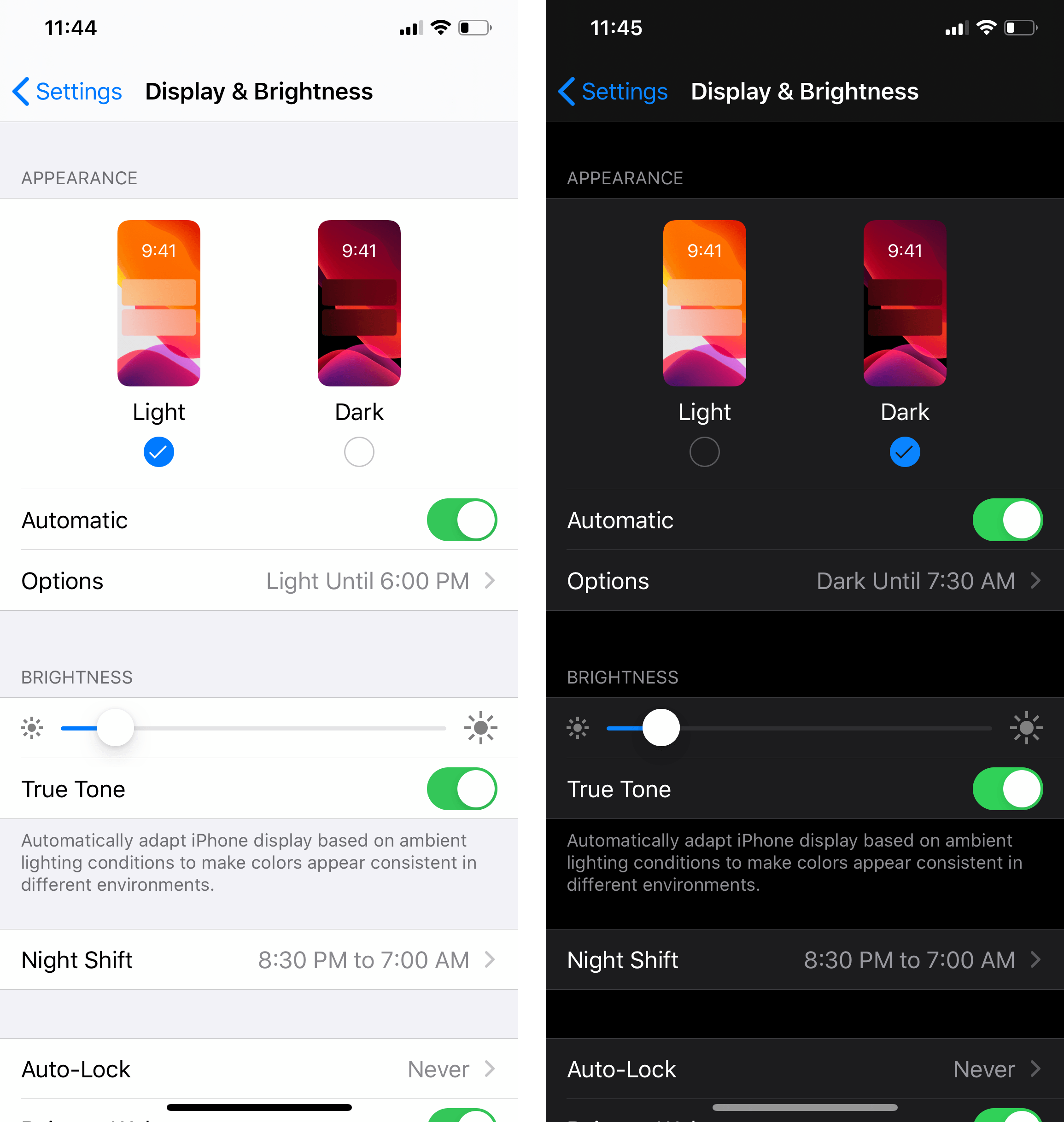 Display and Brightness on iPhone