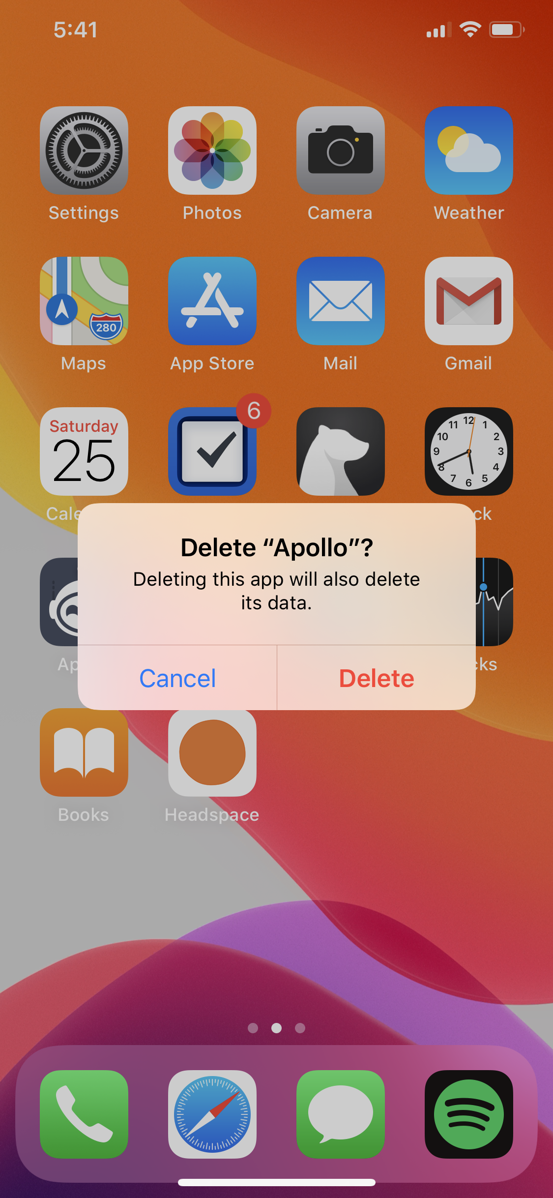 Delete Apps In iOS 13