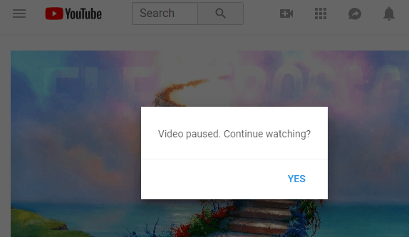 disable video paused continue watching youtube