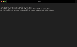 Hide 'default interactive shell is now zsh' Message in Terminal on macOS