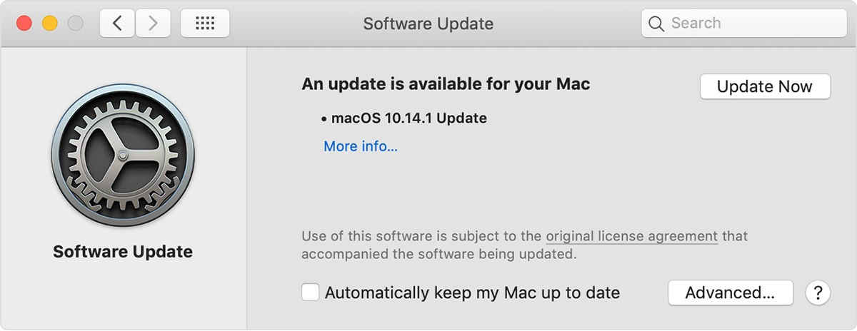 macOS 10.14.1 Software Update
