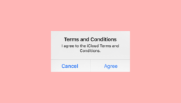 can't accept updated icloud terms and conditions