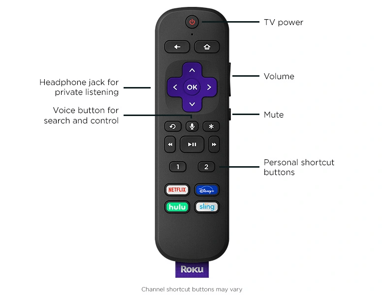Roku TV remote