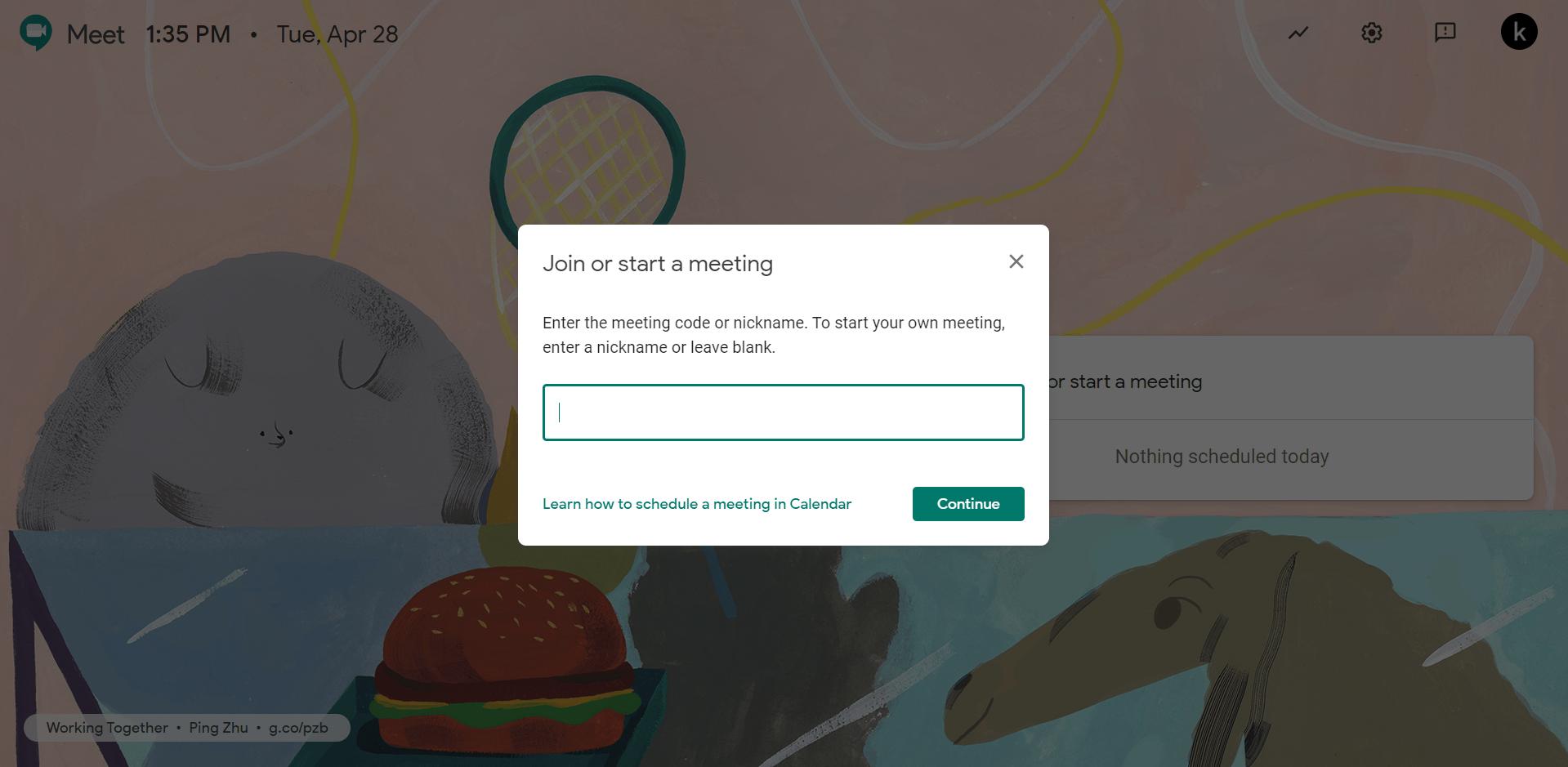 No Camera Found in Google Meet