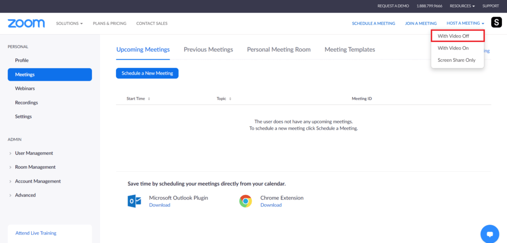 Host a Zoom Meeting with Video Off (Mirroring)