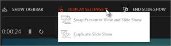 Swap Presenter View and Slide Show