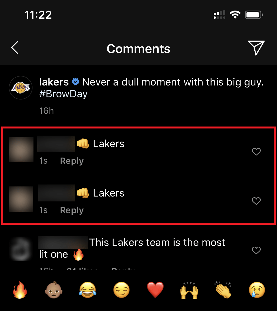 instagram posting duplicate comments