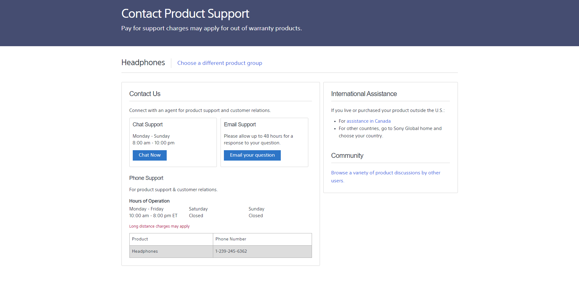 Sony Support