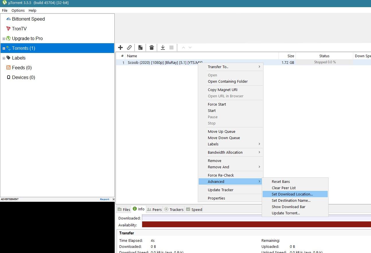 Error Files Missing from Job in uTorrent