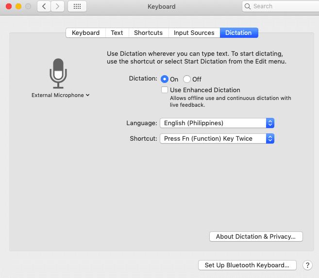 mac microphone not working