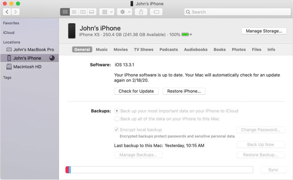 Restoring iPhone
