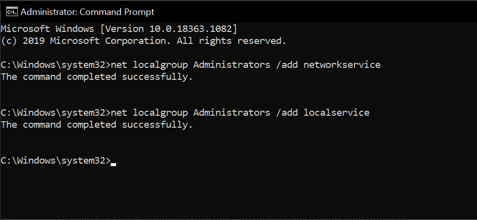 net localgroup command prompt