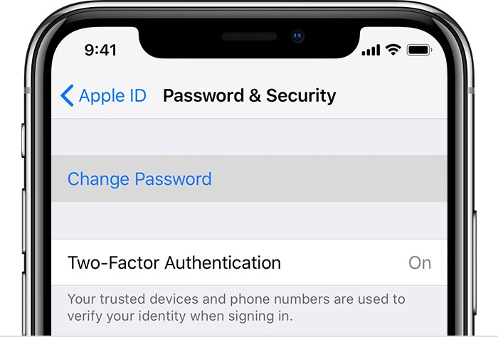 verification failed there was an error connecting to apple id server