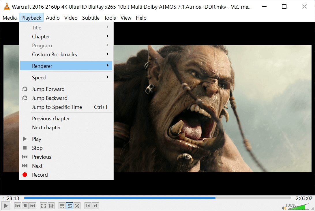 playback renderer