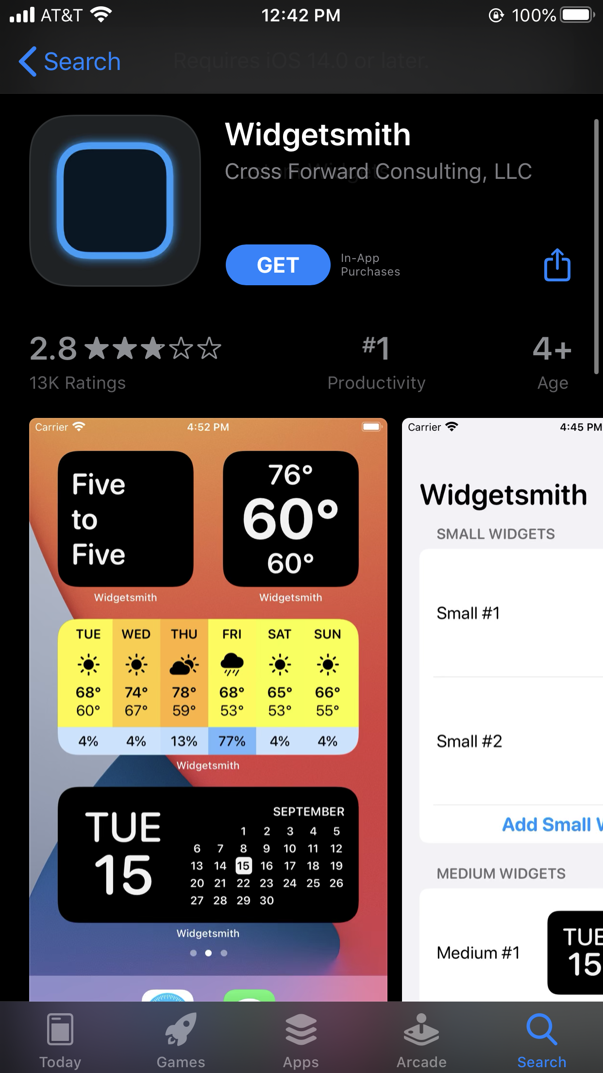 widgetsmith not working on ios 14
