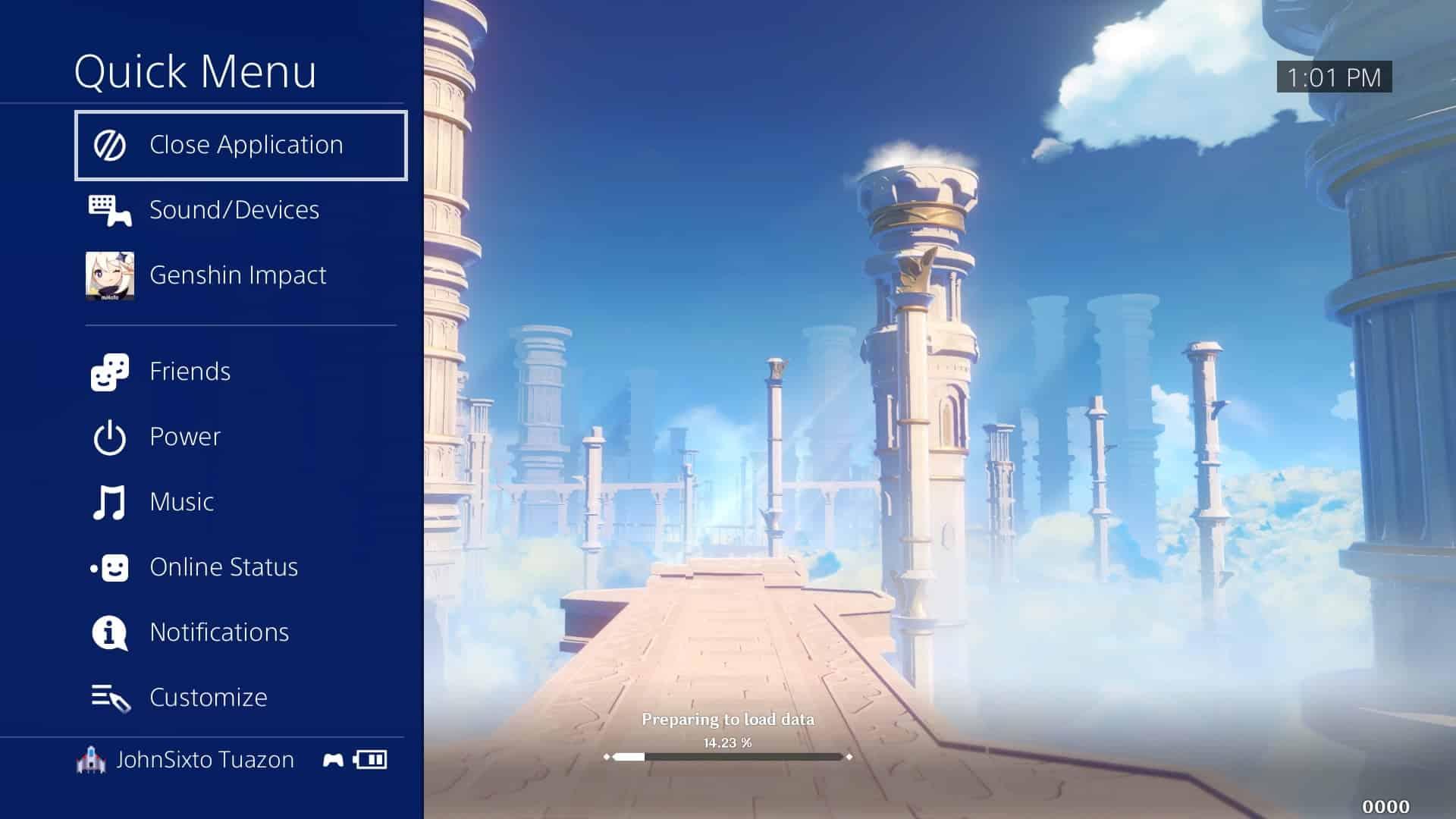 Genshin Impact login failed error on PS4