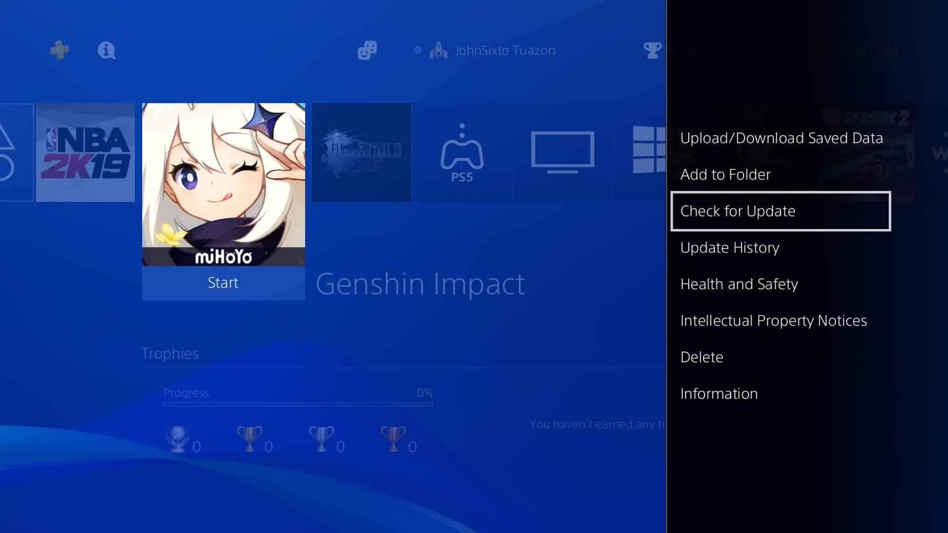 error code 4206 on Genshin Impact